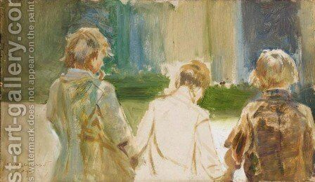 Study of Three Young Boys by Jacek Malczewski - Reproduction Oil Painting