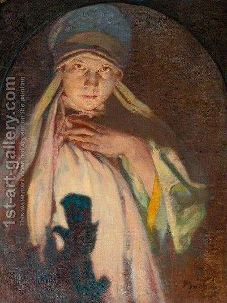 Enchantress by Alphonse Maria Mucha - Reproduction Oil Painting