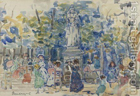 Queens, Luxembourg Gardens by Maurice Brazil Prendergast - Reproduction Oil Painting