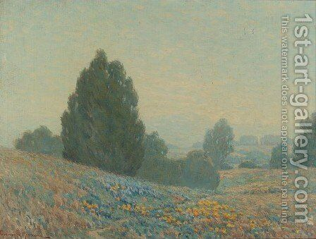 Hills of Marin by Granville Redmond - Reproduction Oil Painting
