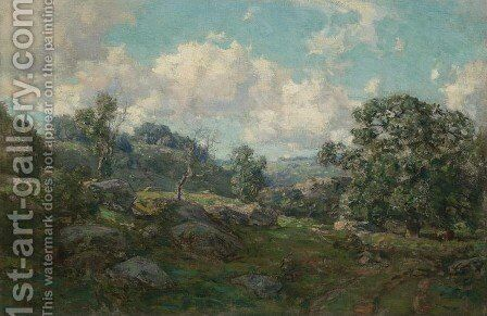 Clouds and Hills by Charles Harold Davis - Reproduction Oil Painting