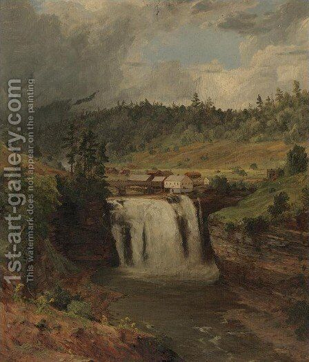 Portage Falls on the Genesse by Jasper Francis Cropsey - Reproduction Oil Painting