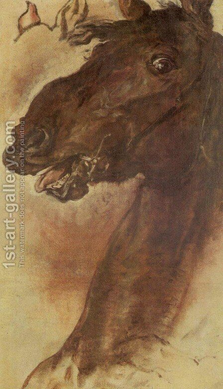 Horse Study III by Jan Matejko - Reproduction Oil Painting