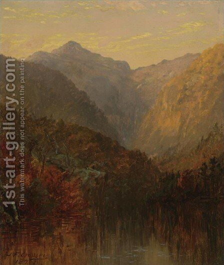 Mount Monroe, White Mountains, New Hampshire by Jasper Francis Cropsey - Reproduction Oil Painting