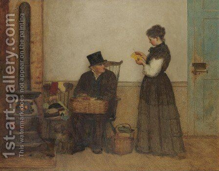 Peddler (Nantucket) by Eastman Johnson - Reproduction Oil Painting