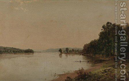 Along the Water's Edge by John Frederick Kensett - Reproduction Oil Painting