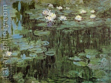 Water Lilies I 2 by Claude Oscar Monet - Reproduction Oil Painting