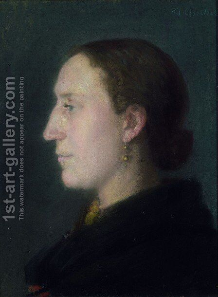 Portrait of Christine (Jorgensen) Thagaard (1863-1935) by Anna Ancher - Reproduction Oil Painting