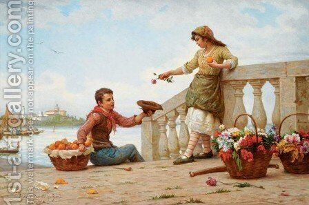 Fair Exchange by Antonio Paoletti - Reproduction Oil Painting