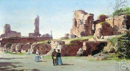 Scavi del Monte Palatino, Rome by Antoinetta Brandeis - Reproduction Oil Painting