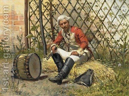 Drummer by Edward Loevy - Reproduction Oil Painting