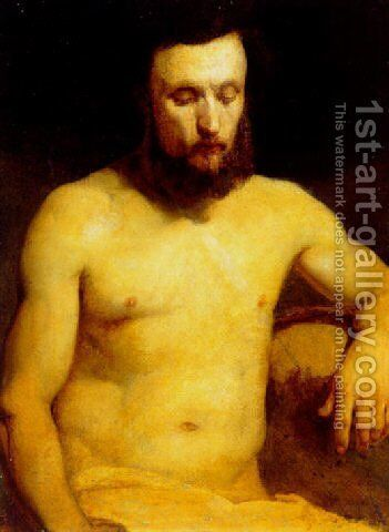 Male Figure (study) by Jan Matejko - Reproduction Oil Painting