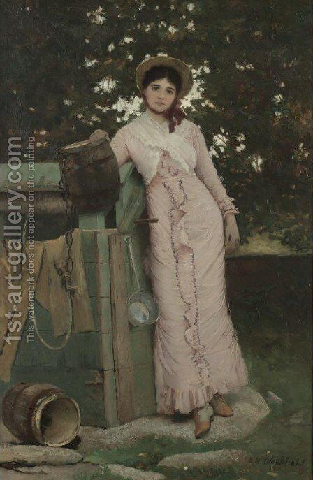 Modern Rebecca by Edwin Howland Blashfield - Reproduction Oil Painting