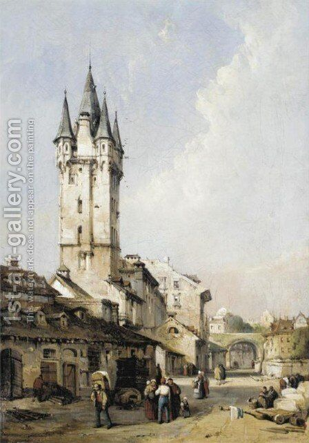 Mayence, Rhine by Charles F. Tomkins - Reproduction Oil Painting