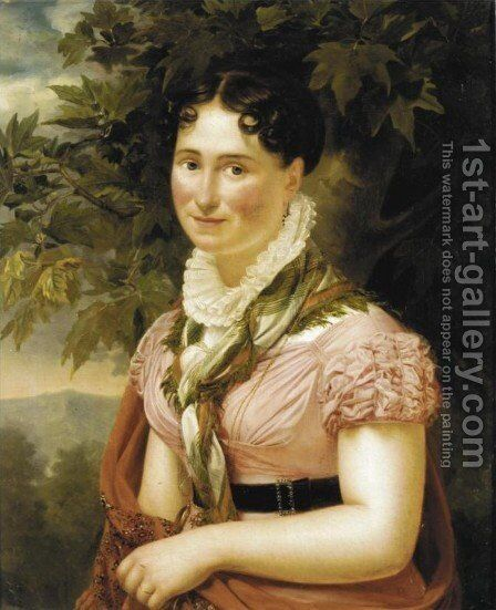 Portrait of a Lady by Auguste Serrure - Reproduction Oil Painting