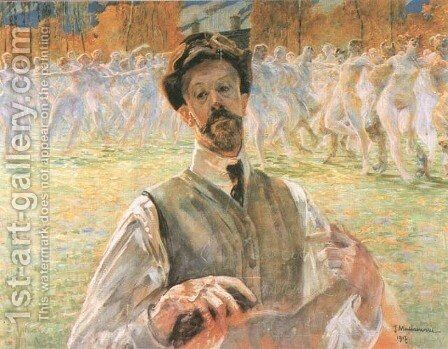 Self-Portrait with a Dance Pageant by Jacek Malczewski - Reproduction Oil Painting