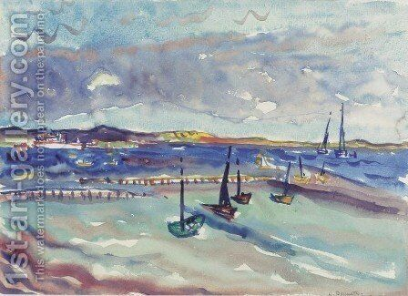 Bay, Provincetown by Charles Demuth - Reproduction Oil Painting