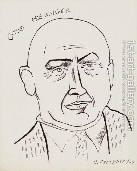 Otto Preminger by Jerzy Faczynski - Reproduction Oil Painting
