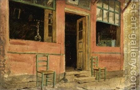 Cafe by Theodore Jacques Ralli - Reproduction Oil Painting
