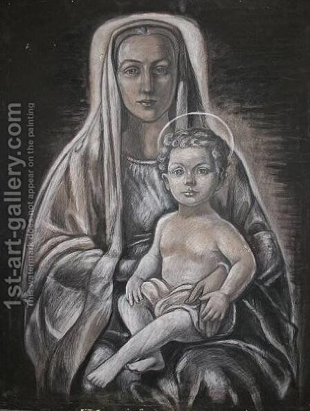 Madonna and Child by Jerzy Faczynski - Reproduction Oil Painting