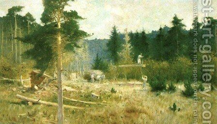 Forest Clearing by Apoloniusz Kedzierski - Reproduction Oil Painting