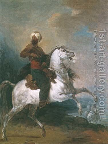 Eastern Rider by Aleksander Orlowski - Reproduction Oil Painting