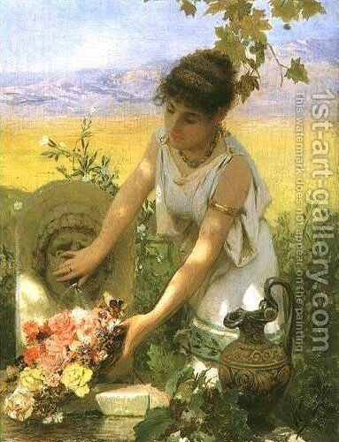 Girl at the Spring by Henryk Hector Siemiradzki - Reproduction Oil Painting