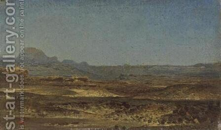 Sinai Desert (Le desert du Sinai) by Leon-Auguste-Adolphe Belly - Reproduction Oil Painting