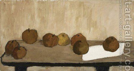Still Life - Apples by Barbara Jonscher - Reproduction Oil Painting