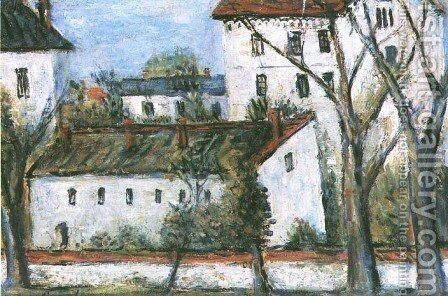 Houses by Emil Schinagel (Szinagel) - Reproduction Oil Painting