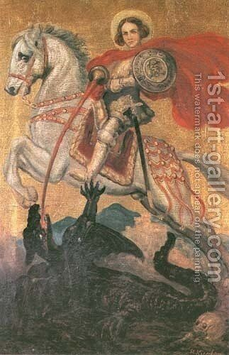 St. George by Hans Kugler - Reproduction Oil Painting
