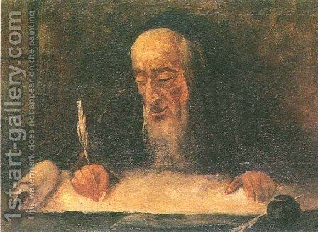 Torah Scribe by Artur Markowicz - Reproduction Oil Painting