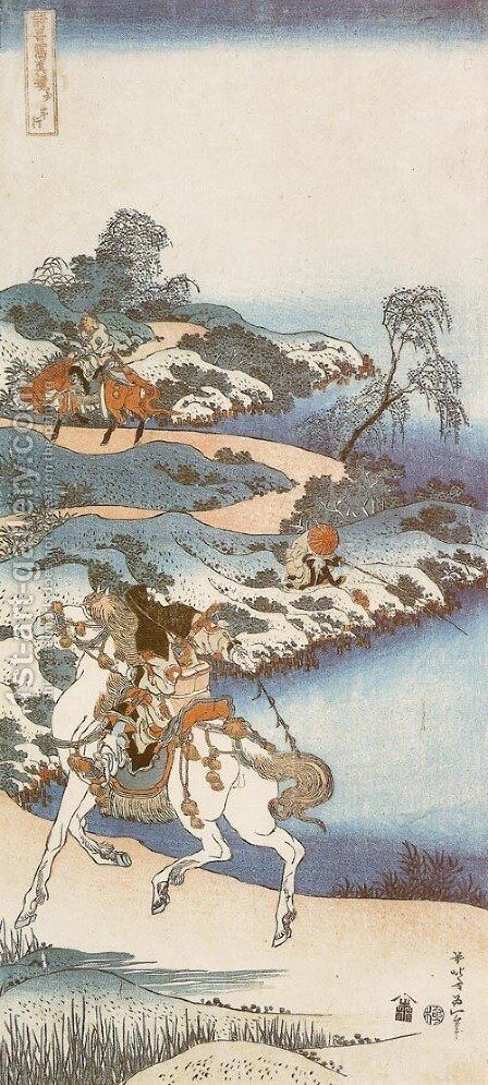 Youth Setting out from Home (Shonenko) by Katsushika Hokusai - Reproduction Oil Painting