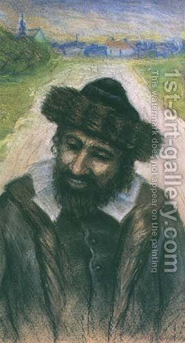Jew on the Road by Artur Markowicz - Reproduction Oil Painting