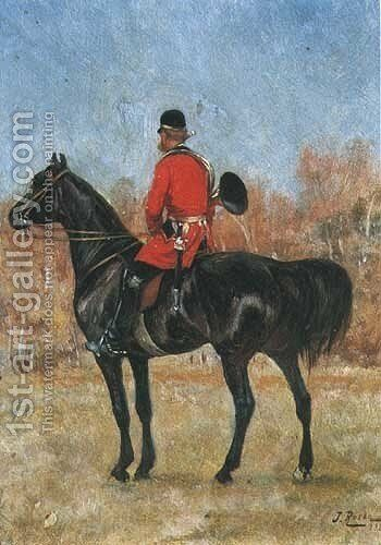 Rider in a Red Coat by Jan Henryk Rosen - Reproduction Oil Painting