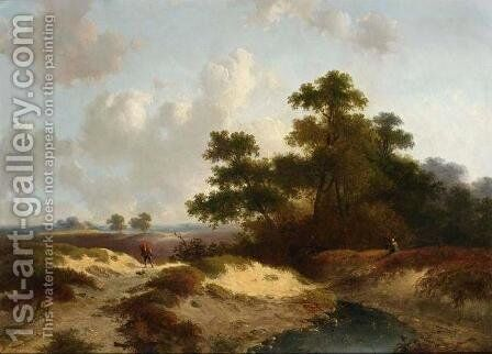 Figures in a Summer Landscape by Jan Evert Morel - Reproduction Oil Painting