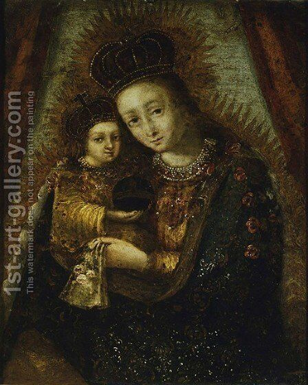 Madonna with Child I by - Unknown Painter - Reproduction Oil Painting