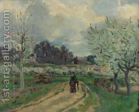 Paysage d'Ile de France by Armand Guillaumin - Reproduction Oil Painting