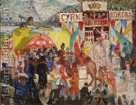 Circus by Stanislaw Osostowicz - Reproduction Oil Painting