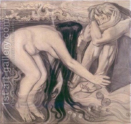 Thetis Emerging from Waves to Her Son by Stanislaw Wyspianski - Reproduction Oil Painting
