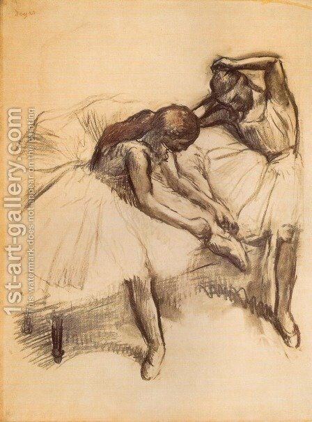Two Dancers V by Edgar Degas - Reproduction Oil Painting