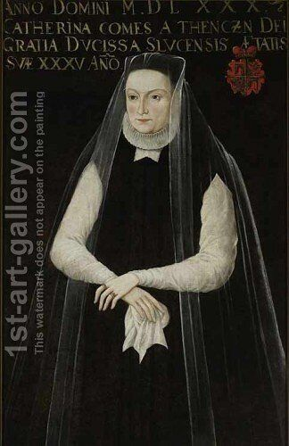 Portrait of Catherina Radziwill nee Teczynska by - Unknown Painter - Reproduction Oil Painting