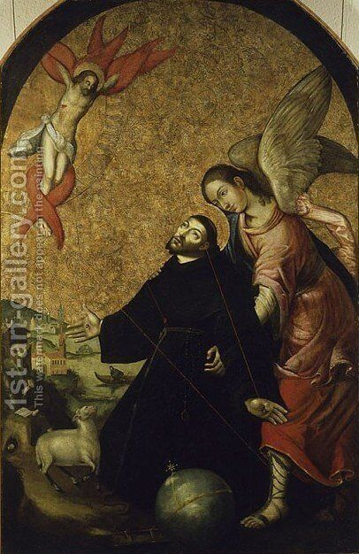 Stigmatization of St. Francis by - Unknown Painter - Reproduction Oil Painting