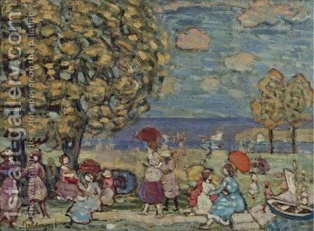 Peaches Point by Maurice Brazil Prendergast - Reproduction Oil Painting