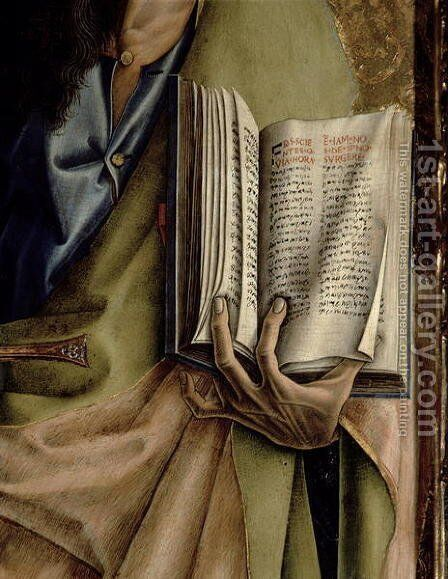 St. Paul, detail of the Book of Epistles, from the Sant'Emidio polyptych, 1473 by Carlo Crivelli - Reproduction Oil Painting