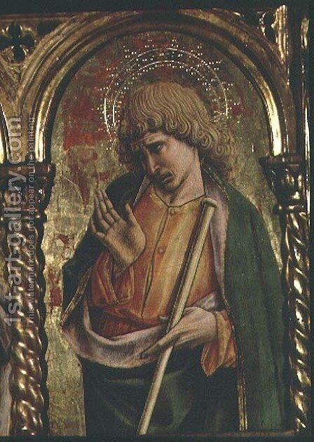 St. James the Less, detail from the Sant'Emidio polyptych, 1473 by Carlo Crivelli - Reproduction Oil Painting
