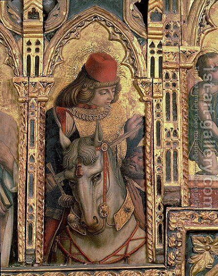 St. Martin, detail from the San Martino polyptych by Carlo Crivelli - Reproduction Oil Painting