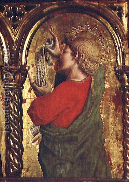 St. John the Evangelist, detail from the Sant'Emidio polyptych, 1473 by Carlo Crivelli - Reproduction Oil Painting