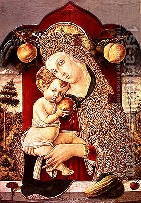 Virgin and Child by Carlo Crivelli - Reproduction Oil Painting