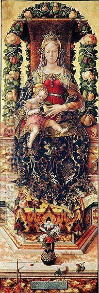 The Madonna of the Little Candle by Carlo Crivelli - Reproduction Oil Painting